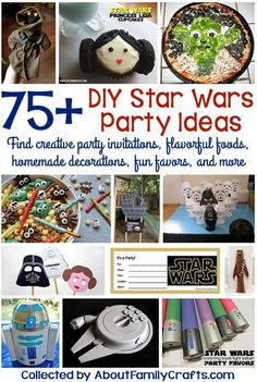 75+ DIY Star Wars Party Ideas - Before you start planning a Star Wars themed birthday party, check out this list of amazing DIY ideas. (http://aboutfamilycrafts.com/75-diy-star-wars-party-ideas/)