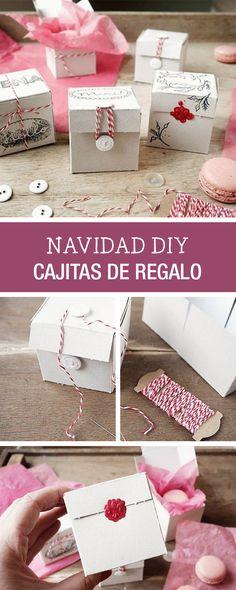 Tutorial DIY: Cómo hacer cajitas de regalo para Navidad. Manualidades en DaWanda.es