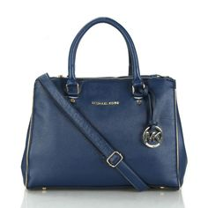 Michael Kors Sutton Saffiano Leather Large Navy Satchels, Your First Choice