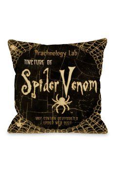 Spider Venom Pillow - Black Multi