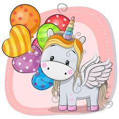 Find Greeting Card Cute Cartoon Unicorn Balloon stock images in HD and millions of other royalty-free stock photos, illustrations and vectors in the Shutterstock collection. Cartoon Unicorn, Unicorn Art, Cute Unicorn, Unicorn Poster, Cartoon Mignon, Unicornios Wallpaper, Kids Cartoon Characters, Unicorn Balloon, Unicorn Pictures