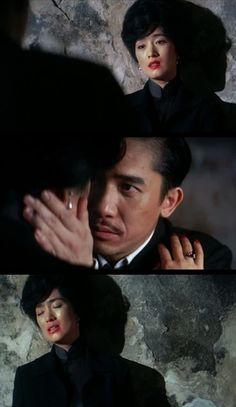 Tony Leung as Chow Mo-wan and Gong Li as Su Li-zhen • from 2046 (2004), directed by Wong Kar-Wai