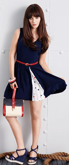 Retro Polksdot Dress // Designed by Zooey Deschanel ♥ L.O.V.E.