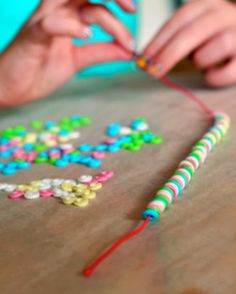 Melted Bead Necklaces. These look just like those candy necklaces. tutorial at willowday