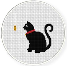 FREE for Dec 15th 2016 Only - Black Cat Cross Stitch Pattern