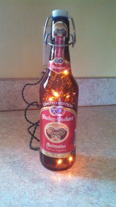 Beer bottle light.