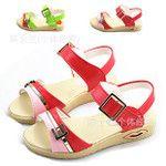 Sandals bé gái xinh xắn, thiết kế giản dị, phối màu dễ thương