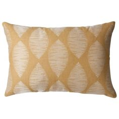 Threshold Embroidered Leaf Oblong Pillow - Gold (18x18)