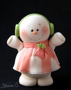 peach snowman
