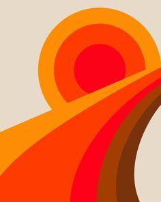 'Super Highway' Photographic Print by leafandpetal Sip N Paint, Collage Artists, Create Image, Retro Home Decor, Retro Art, Retro Design, Vintage Vibes, Vintage Style, Retro Vintage