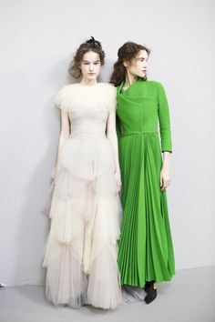 Christian Dior at Couture Spring 2017 - Backstage Runway Photos