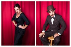 Is there a more dapper fake couple alive? Me thinks not. Paul F. Tompkins and Paget Brewster, photographed by Matt Harbicht.