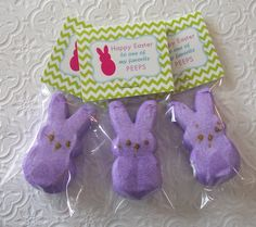 Printable Easter Bunny Peep Mini Bag Toppers by PinkPosyPaperie, $3.00