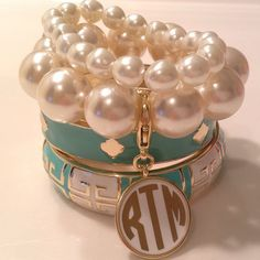 emileeboss23:  Can never go wrong with pearls and a monogram.
