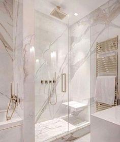 White and gray bathroom - # white - Badgestaltung ideen - Badezimmer Modern Master Bathroom, Grey Bathrooms, Beautiful Bathrooms, Small Bathroom, Bathroom Marble, Bathroom Mirrors, Bathroom Cabinets, Luxury Bathrooms, Master Baths