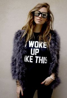 I Woke Up Like This Sweatshirt as seen on Chiara Ferragni - designed by Private Party