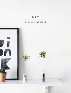 DIY air planters made with clay   easy craft ideas