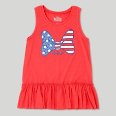 Girls' Minnie Mouse Tank Top - Red M, Girl's, Size: M (7-8)