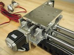 One of the sub-systems of the CNC partially assembled.