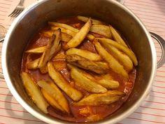 Trippa con patate fritte