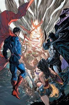 《Superman, Batman and Wonder Woman》 Héros Dc Comics, Dc Comics Characters, Superman Characters, Comic Books Art, Comic Art, Book Art, Avengers Vs Justice League, Justice League Animated, Dc Trinity