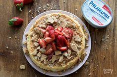 Luchtige Philadelphia cheesecake met aardbeien – recept