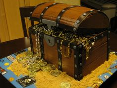 Pirate treasure chest--what I'm trying to make at school!