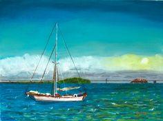 Docked in the Bay Pastel on Wallis Pro Board