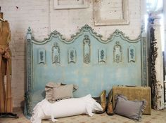 Vintage Painted Cottage Shabby Aqua Chic King by paintedcottages