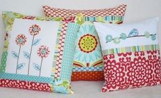 Lindylou - handmade embroidery and sewing patterns, decorative handmade throw pillows.