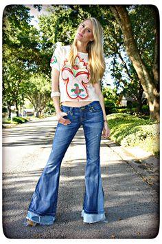 True Religion Love & Haight Bell-Bottom denim jeans (Falling Leaf)