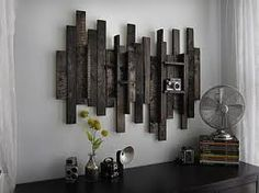 """Rustic Art made with recycled boards. My kind of """"dust able"""""""