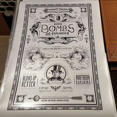 24x36 metallic archival giclee print headed out of my #art inspired by the #nintendo #gaming series #legendofzelda #twilightprincess #zelda #link #gamer #games #gamestagram #vintage #rustic #blackandwhite #victorian #illustration #typography #graphicdesig