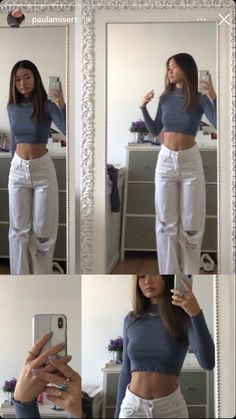 Adrette Outfits, Retro Outfits, Cute Casual Outfits, Summer Outfits, Stylish Outfits, Teen Fashion Outfits, Simple Outfits, Outfit Stile, Mode Hipster