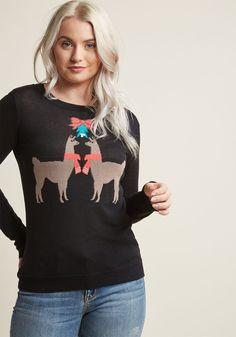 Holiday Llama Knit Sweater