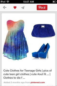 I love everything about this outfit Way to make a statement with the galaxy dress! Outfits Teenager Mädchen, Teen Girl Outfits, Outfits For Teens, Looks Cool, Looks Style, My Style, Cute Fashion, Teen Fashion, Fashion Outfits