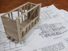 Using Free Plans to Build a Scale Model Building