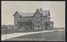 Postcard TIFFIN Ohio/OH  Junior Order American Mechanics Home view 1907  | eBay
