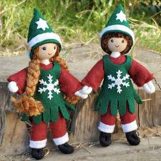 Your place to buy and sell all things handmade Felt Christmas, Christmas Colors, Christmas Crafts, Christmas Decorations, Felt Ornaments, How To Make Ornaments, Holiday Ornaments, Girl Elf, Elf Ears