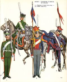 Russian Chasseurs a Cheval and Uhlans