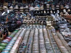 Typical souvenir stall in Kathmandu Nepal - how to barter and bargain in Kathmandu
