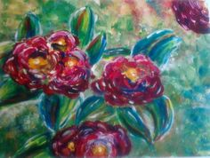 """""""Flores de primavera"""" 23x30cm Acrílico"""