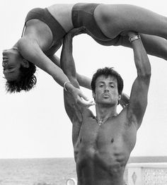 Sylvester Stallone and Brigitte Nielsen photographed by Herb Ritts, 1987.