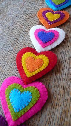 More heart garland...