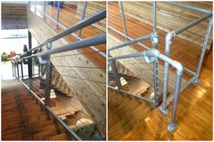 Cable Rail Pipe Handrail - A Cable Railing System that can be used with Kee Klamp Pipe Fittings