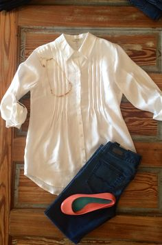 A classic white button-up with updated touches from Tyler Boe. #newarrivals #classics