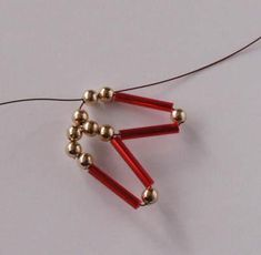 Zatiahneme Beaded Christmas Ornaments, Christmas Deco, Xmas, Beading Tutorials, Beading Patterns, Bead Jewellery, Beaded Jewelry, Bead Art, Jewelry Making