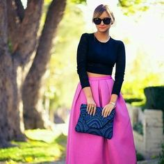 15 Inspirational Summer Street Style Looks - Damen Mode Stil Fashion Blogger Style, Fashion Mode, Look Fashion, Womens Fashion, Fashion Trends, Fashion Bloggers, Skirt Fashion, Club Fashion, Fashion 2015