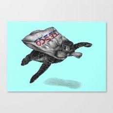 5p Superhero Canvas Print