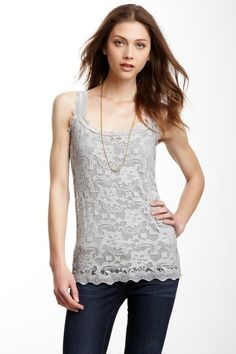 Kische Lace Cami ~ like this :) Ladies Fashion, Fashion Outfits, Womens Fashion, Pretty Outfits, Cute Outfits, Clothing Basics, Elena Gilbert, Basic Outfits, Cami Tops